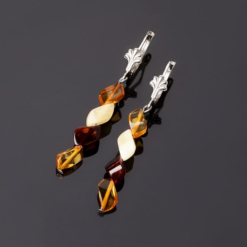 Серьги янтарь пресс (биж. сплав) таблетница янтарь пресс биж сплав 5 5 см