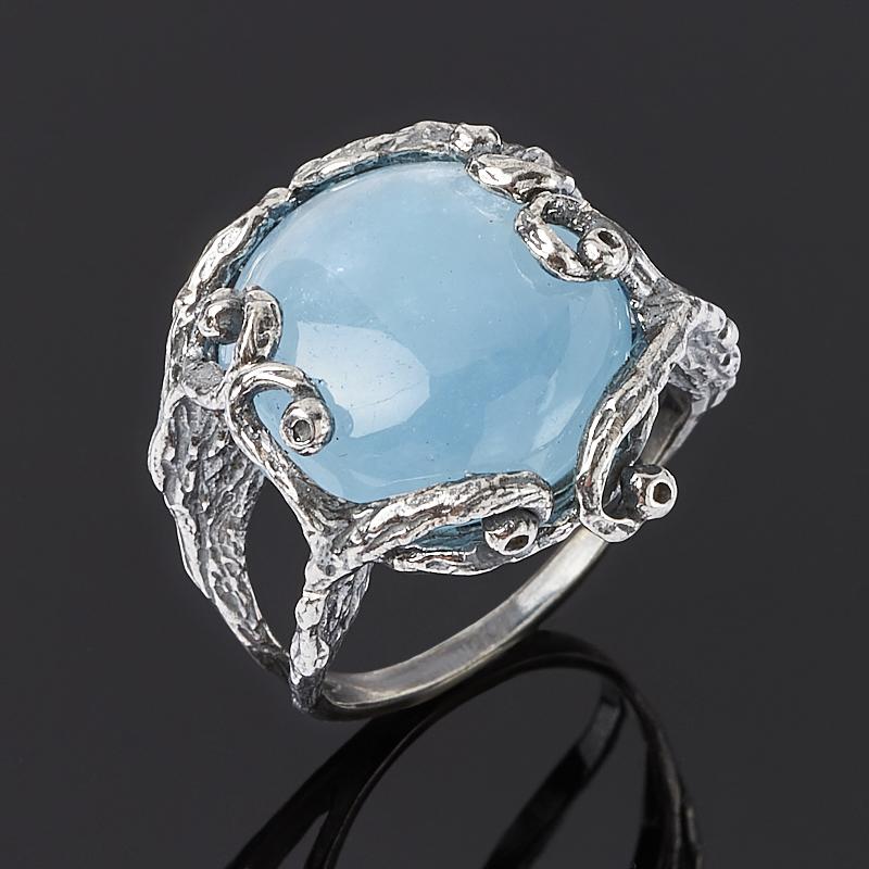Кольцо аквамарин (серебро 925 пр.) размер 18,5 кольцо окаменелость серебро 925 пр размер 16