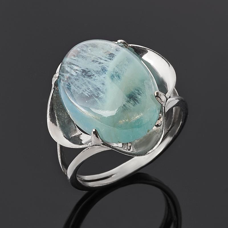 Кольцо аквамарин (серебро 925 пр.) размер 18 цена