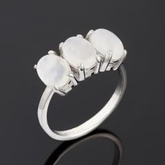 Кольцо лунный камень Индия (серебро 925 пр.) размер 18,5