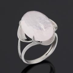 Кольцо розовый кварц Бразилия огранка (серебро 925 пр.) размер 17,5