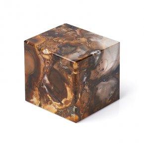 Куб агат пейзажный Казахстан 6,5 см