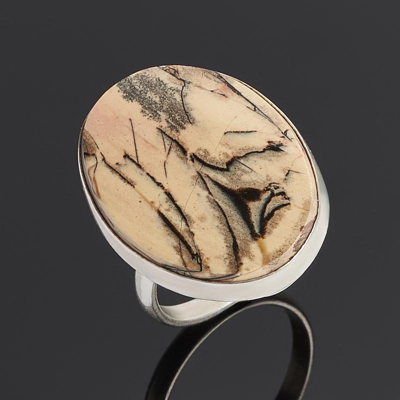 Кольцо яшма уральская (нейзильбер) размер 17,5