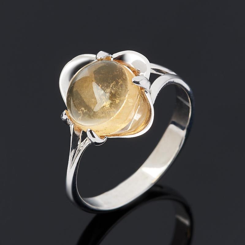 Кольцо цитрин (серебро 925 пр.) размер 16 цена