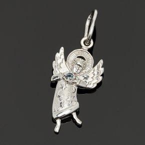 Кулон Ангел Хранитель сапфир Индия огранка (серебро 925 пр.)