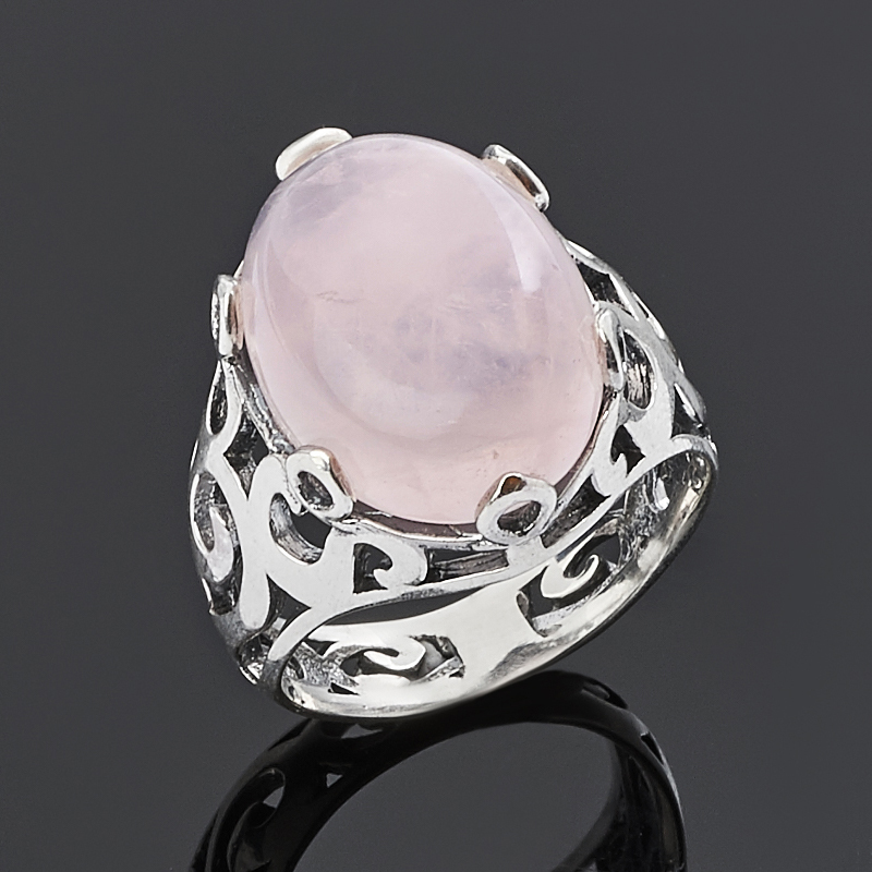 Кольцо розовый кварц (серебро 925 пр.) размер 17 кольцо розовый кварц серебро 925 пр позолота размер 17 5