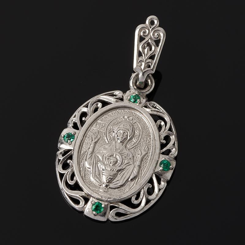 Кулон Неупиваемая Чаша изумруд огранка (серебро 925 пр.)
