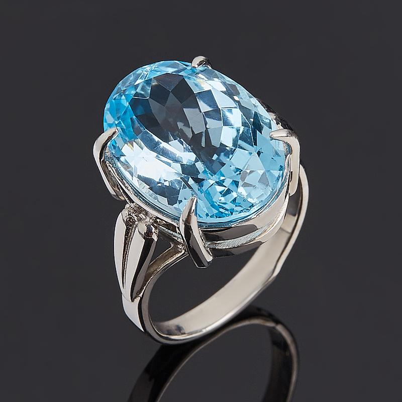 Кольцо топаз голубой огранка (серебро 925 пр.) размер 18