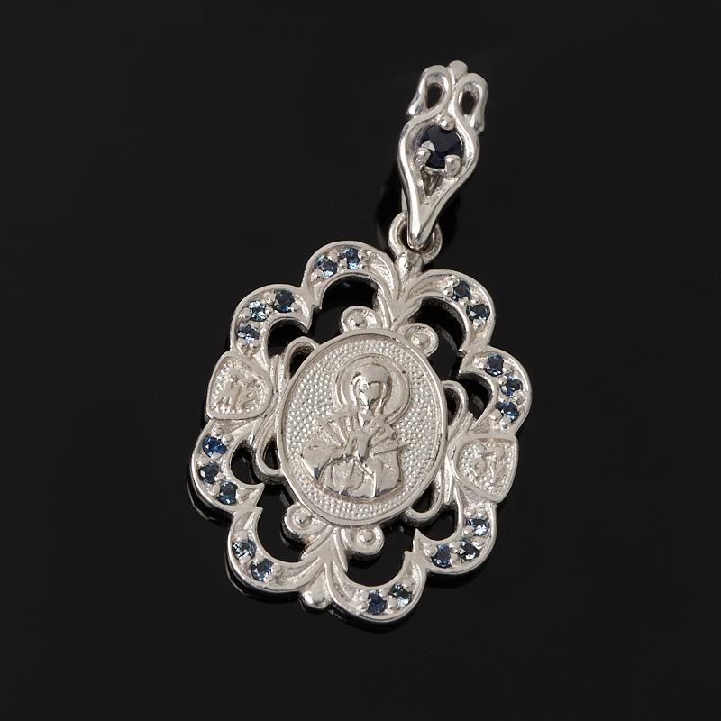 Кулон Семистрельная Божья Матерь сапфир огранка (серебро 925 пр.) все цены