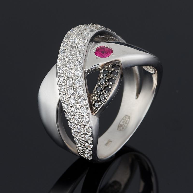 Кольцо рубин огранка (серебро 925 пр.) размер 17