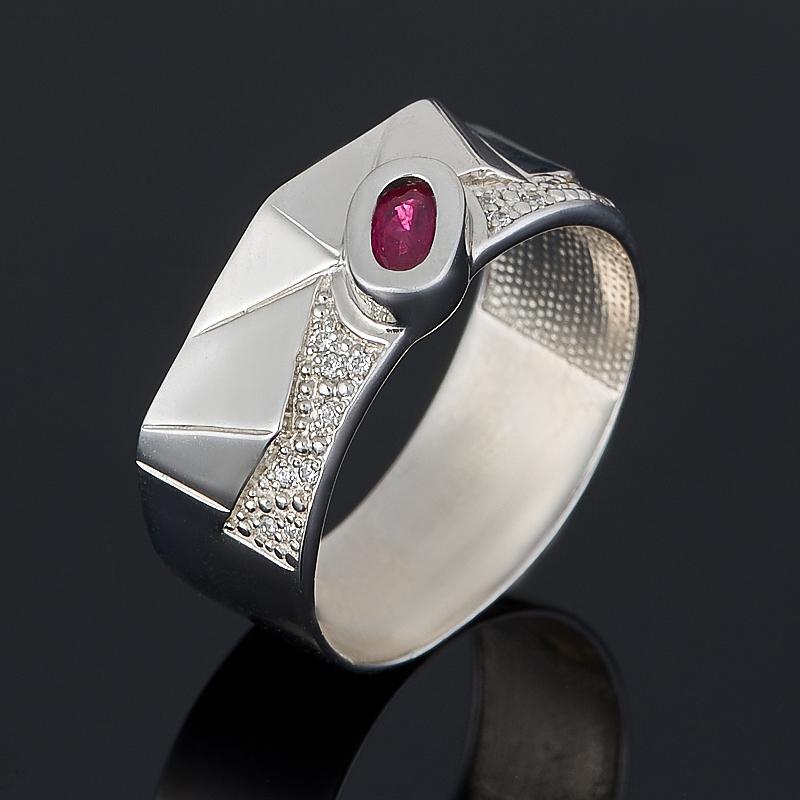 Кольцо рубин огранка (серебро 925 пр.) размер 17,5