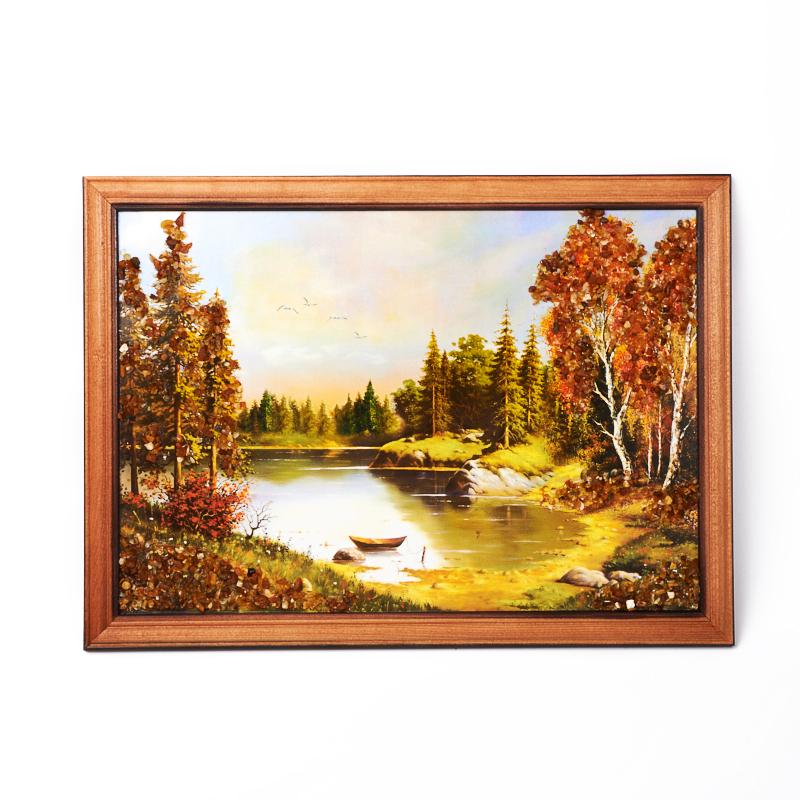цена на Картина Природа янтарь 21х30 см