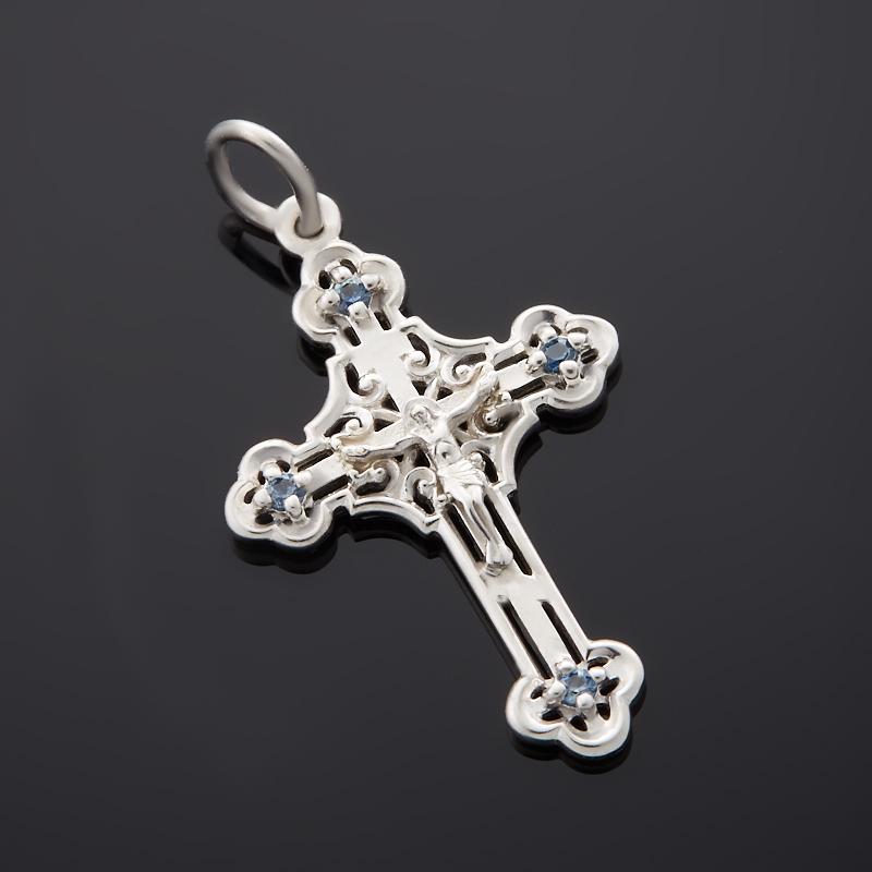 Кулон сапфир крест огранка (серебро 925 пр.) кулон сапфир огранка серебро 925 пр