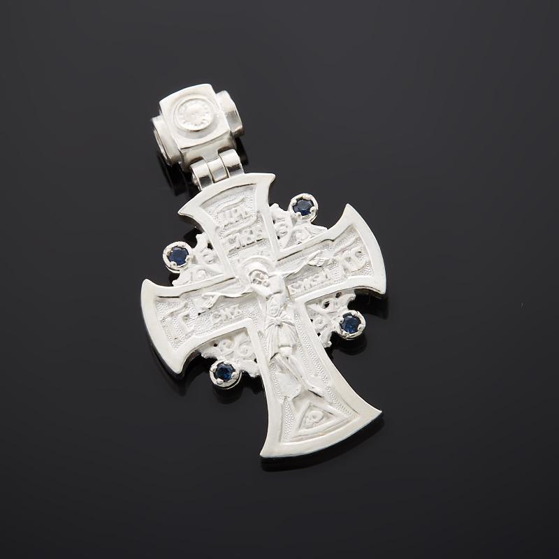 Кулон сапфир крест огранка (серебро 925 пр.) кулон mitya veselkov штурвал и крест