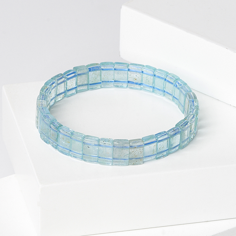 цены Браслет топаз голубой 18 см