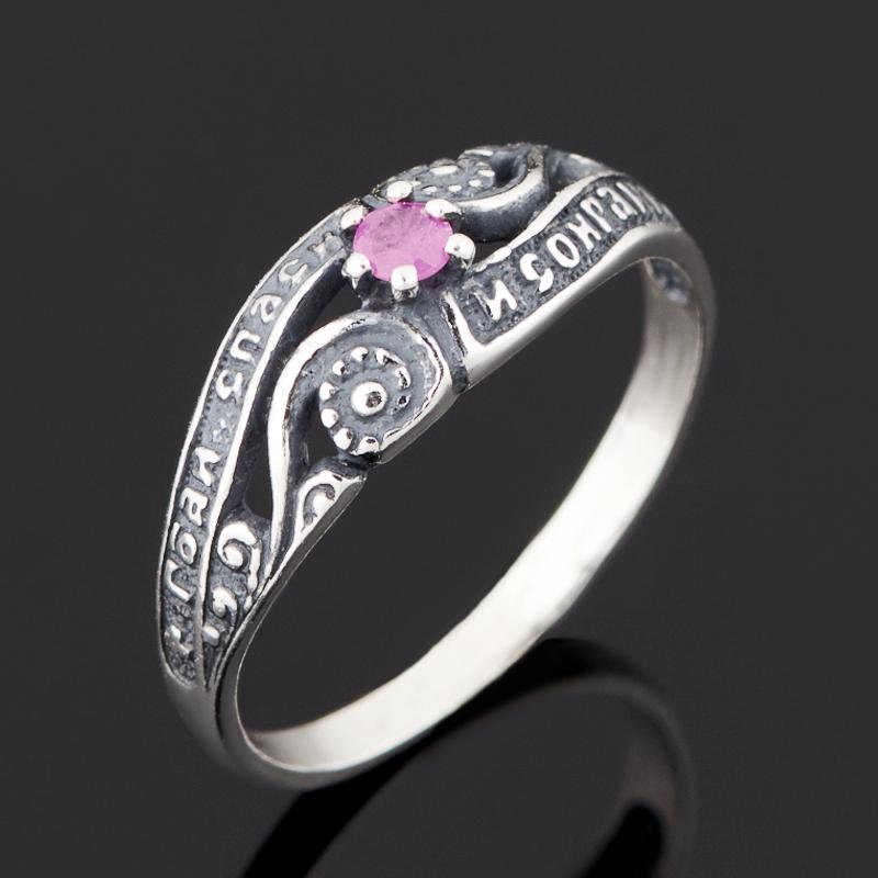 Кольцо рубин (серебро 925 пр. черн.) огранка размер 16,5