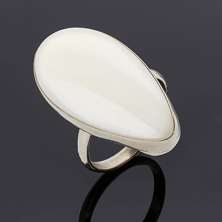 Кольцо кахолонг (дублет) (нейзильбер) размер 18