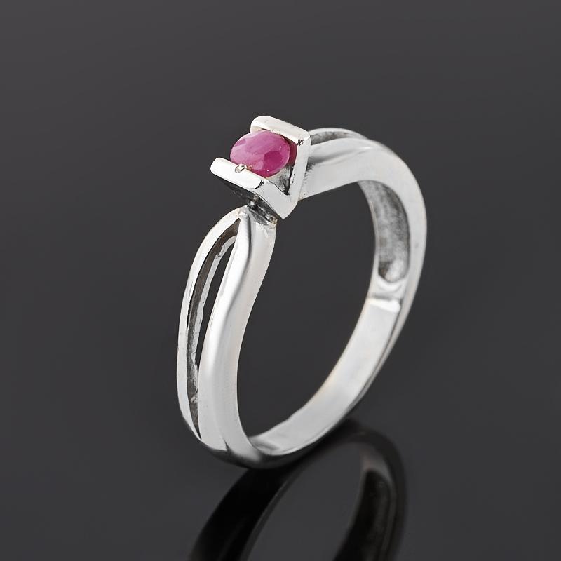 Кольцо рубин (серебро 925 пр. родир. бел.) огранка размер 17 кольцо содалит серебро 925 пр регулируемый размер 17 5