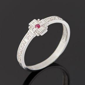 Кольцо Спаси и Сохрани рубин Мьянма (серебро 925 пр. родир. бел.) огранка размер 16,5