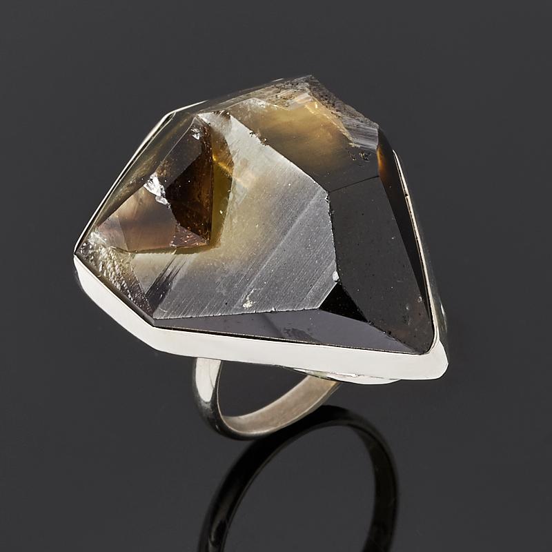 Кольцо цитрин с раухтопазом (нейзильбер) размер 18,5