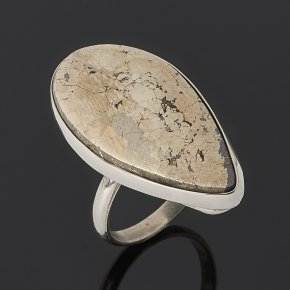 Кольцо халькопирит (дублет) Россия (нейзильбер) размер 18,5