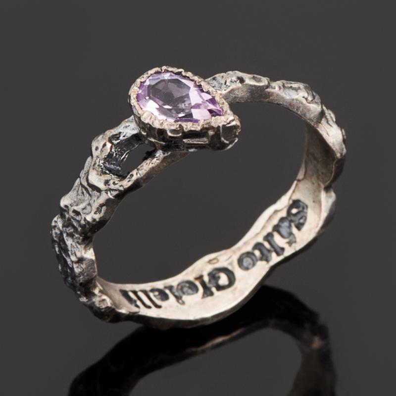 Кольцо аметист (серебро 925 пр. черн.) огранка размер 18