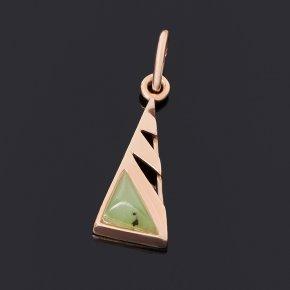 Кулон нефрит зеленый Россия (серебро 925 пр. позолота)