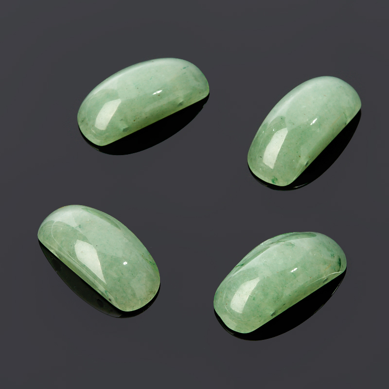 Бусина авантюрин зеленый овал 10*22 мм (1 шт) tnl кристаллы овал 1 темно желтые 10 шт
