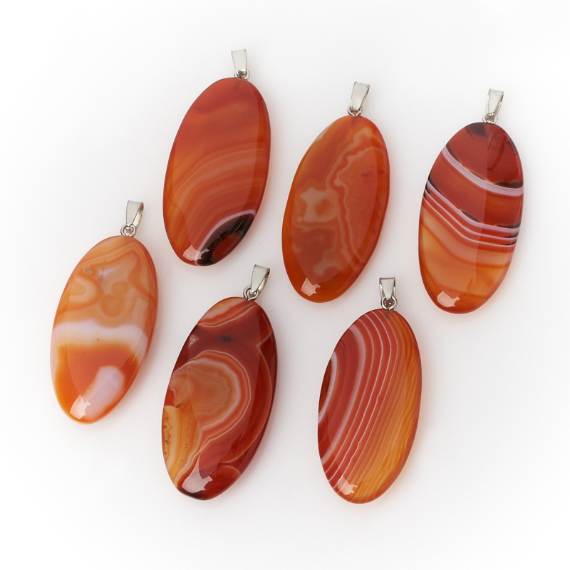 Кулон агат красный (биж. сплав) овал 5,5-6 см кулон овал содалит биж сплав 6 5 7 см