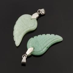 Кулон авантюрин зеленый Индия (биж. сплав) 4-4,5 см