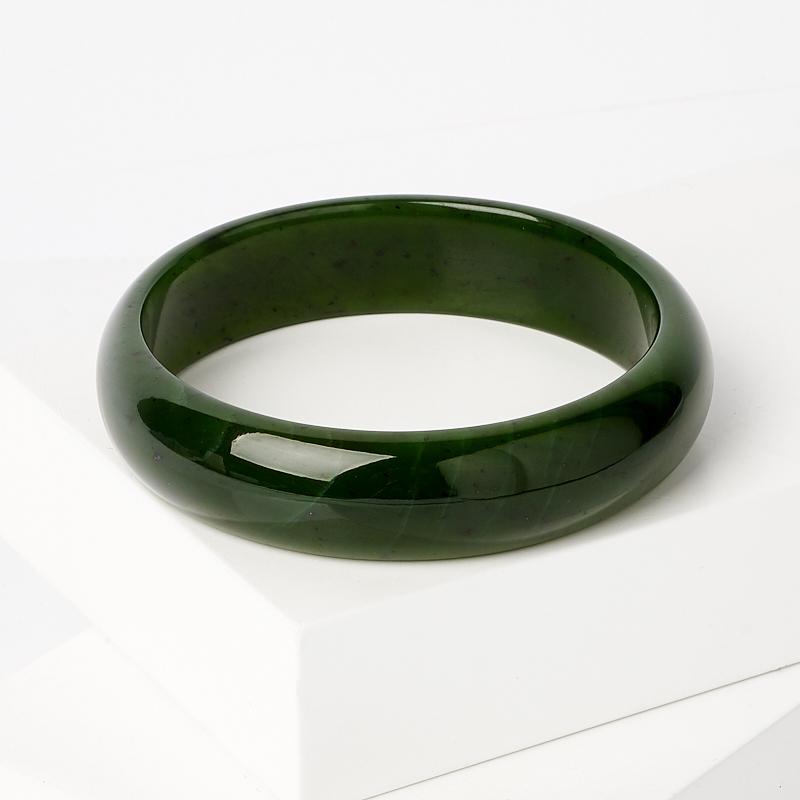 Браслет нефрит зеленый цельный 19 см браслет классика 8 нефрит револю