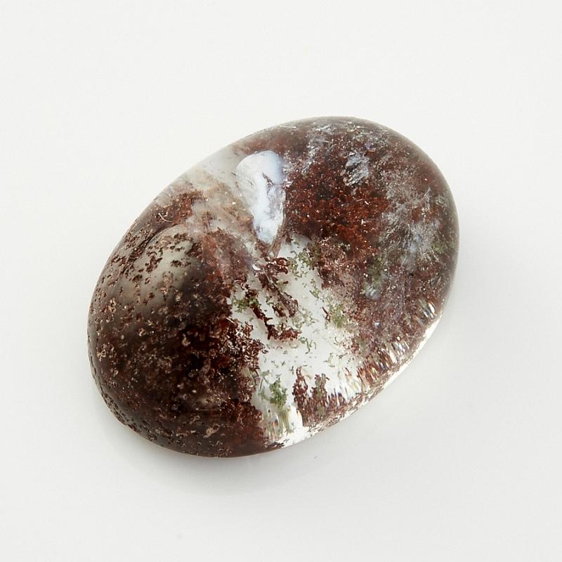 Кабошон кварц с хлоритом 10*14 мм