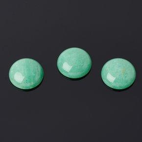 Кабошон авантюрин зеленый Индия 15 мм