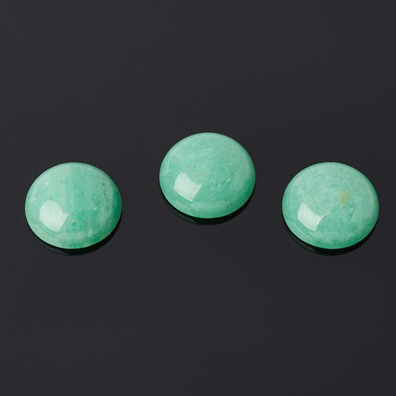 Кабошон авантюрин зеленый 15 мм