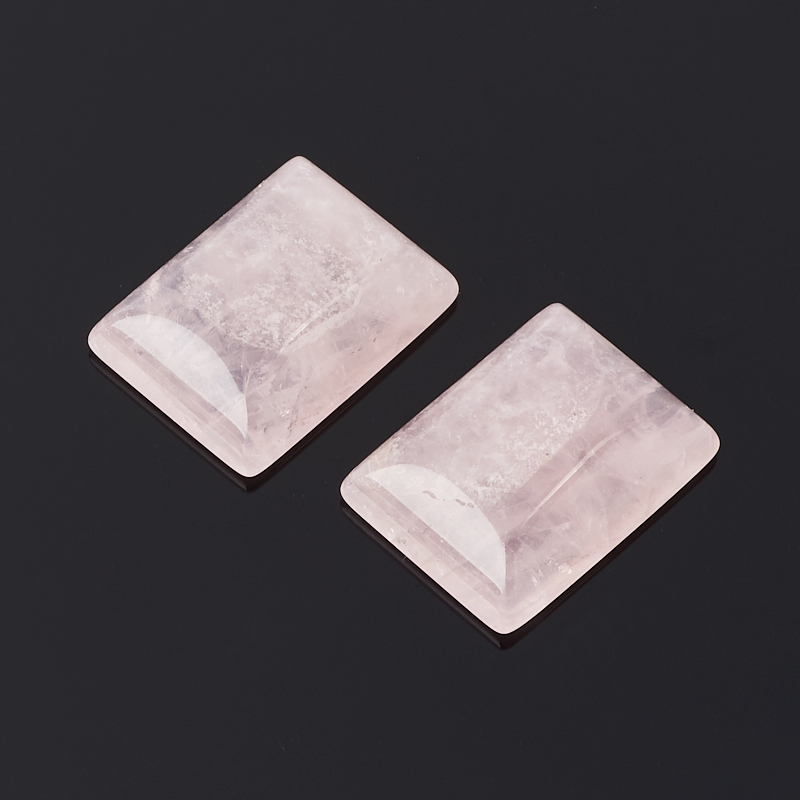 Кабошон розовый кварц 15*20 мм