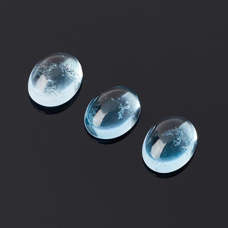 Кабошон топаз голубой 7*9 мм