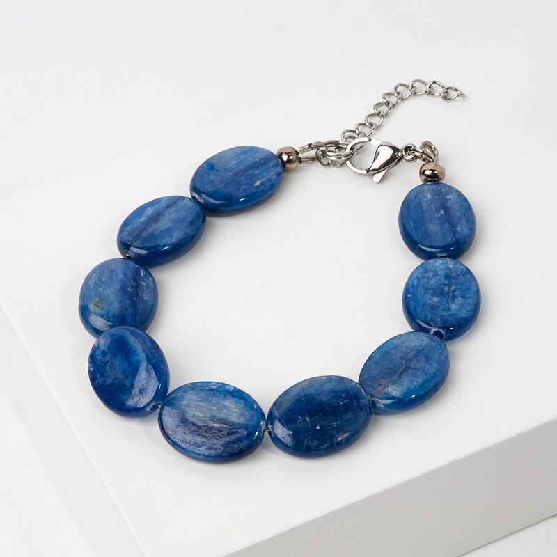Браслет кианит синий (сталь хир.) 17-20 см