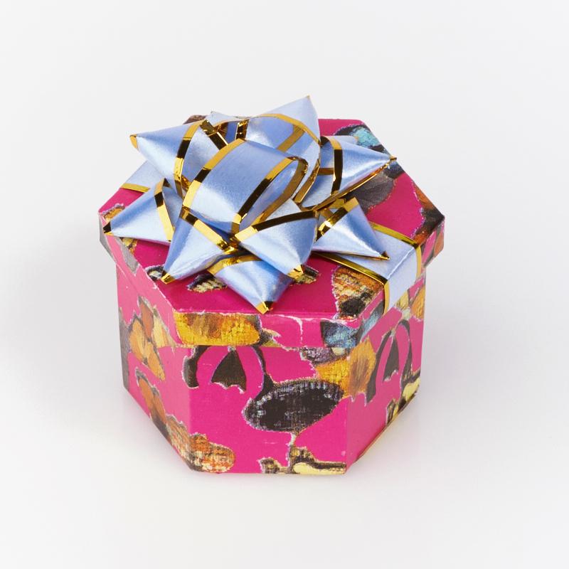 цена Подарочная упаковка под кольцо/серьги 45х35х30 мм