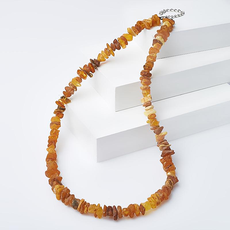 Бусы янтарь (биж. сплав) 54-60 см таблетница янтарь пресс биж сплав 5 5 см