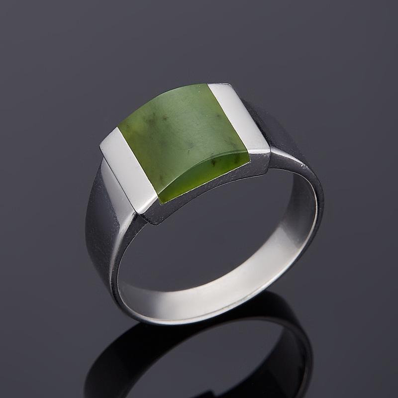 Кольцо нефрит зеленый (серебро 925 пр. родир. бел.) размер 18,5 кольцо нефрит зеленый серебро 925 пр размер регулируемый
