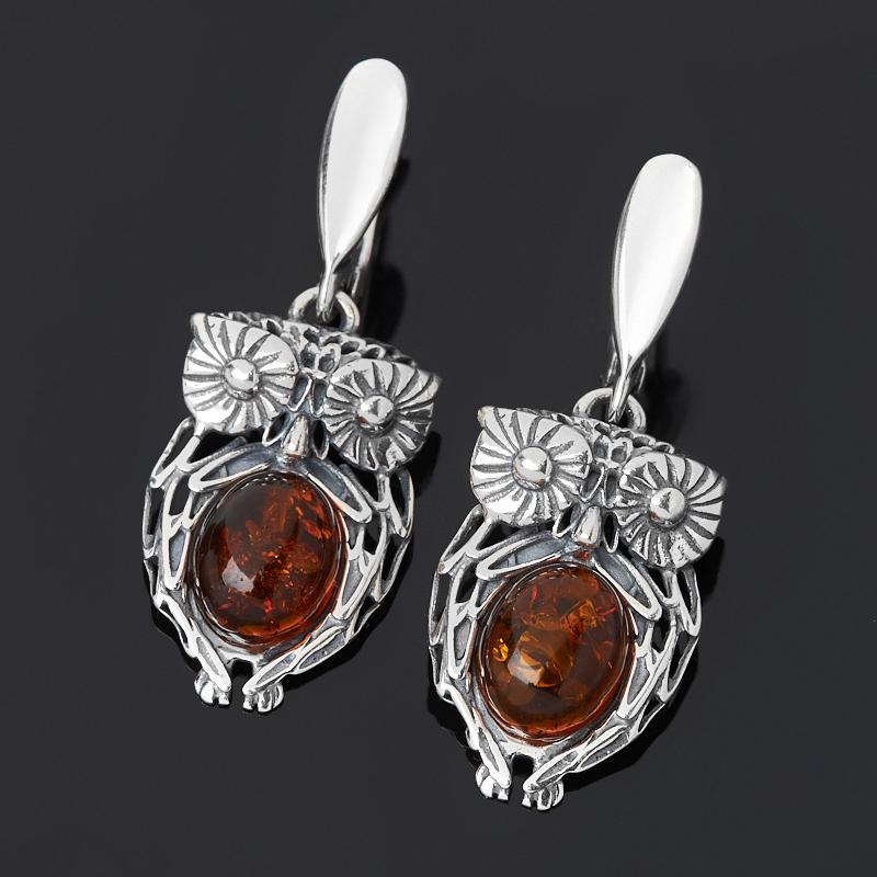 Серьги янтарь пресс (серебро 925 пр. оксидир.) серьги 23020103541 ag925 янтарь 8 230