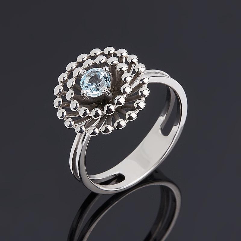 Кольцо топаз голубой (серебро 925 пр.) огранка размер 17