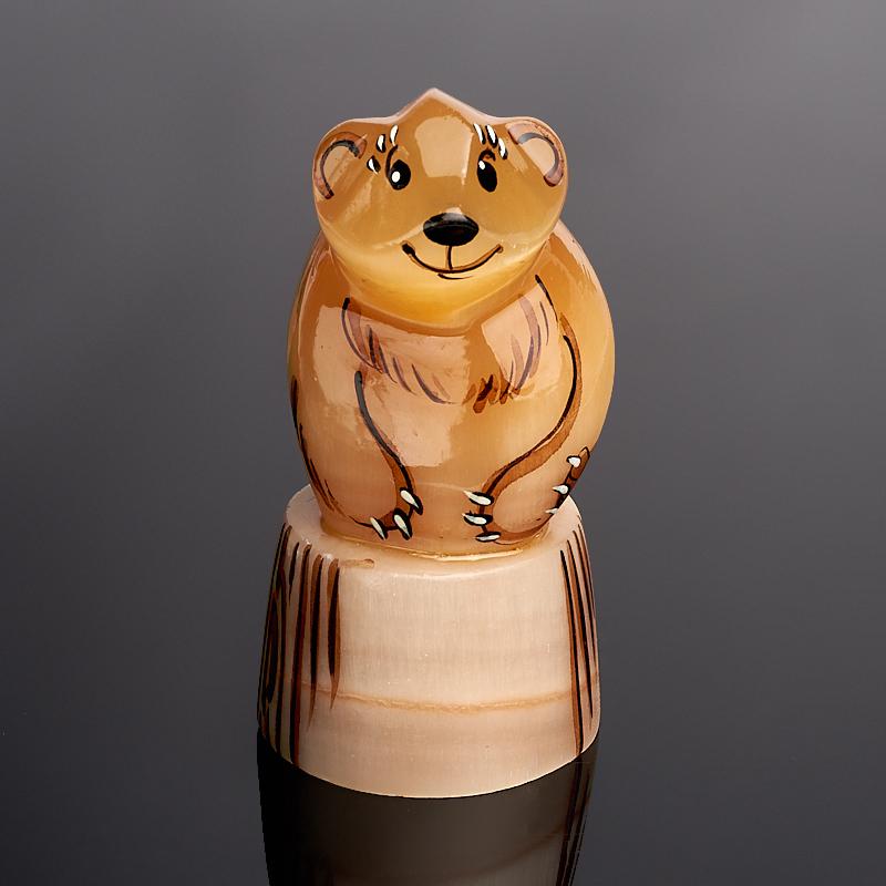 Медведь селенит 8 см черепашка селенит 8 см