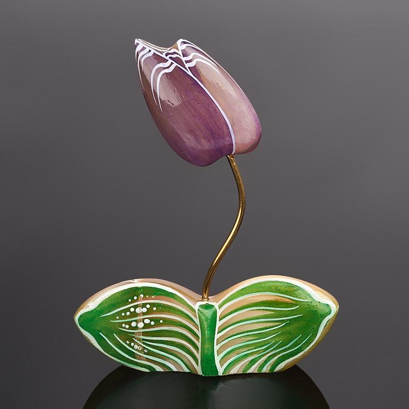 лучшая цена Цветок на подставке селенит 10,5 см