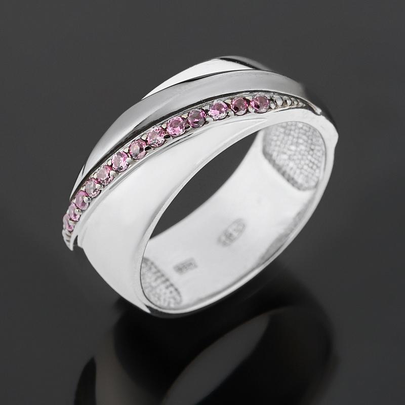 Кольцо гранат родолит (серебро 925 пр. родир. бел., родир. черн.) огранка размер 17,5