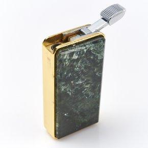 Зажигалка клинохлор (серафинит) Россия (биж. сплав) 3х6 см