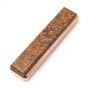 Зажигалка с USB кабелем ракушечник (дублет) Россия (биж. сплав) 2х8,5 см