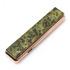 Зажигалка с USB кабелем змеевик Россия (биж. сплав) 2х8,5 см