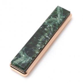 Зажигалка с USB кабелем клинохлор (серафинит) (дублет) Россия (биж. сплав) 2х8,5 см