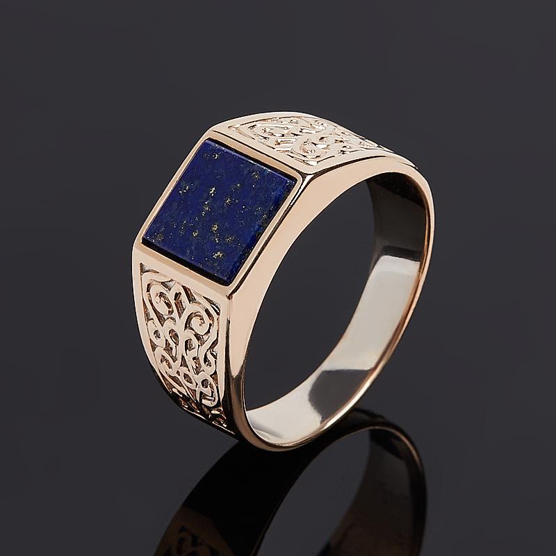 Кольцо лазурит (серебро 925 пр. позолота) размер 19